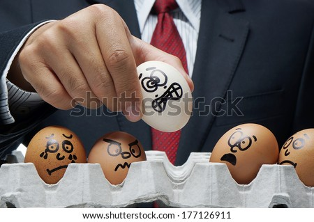 Bullying concept in workplace.  - stock photo