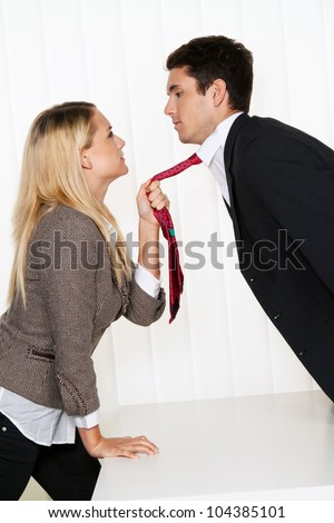 bullying in the workplace. aggression and conflict among colleagues. - stock photo