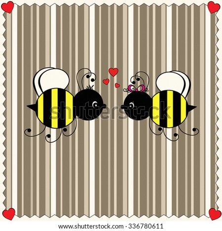 Bumble Bees - Love - stock photo