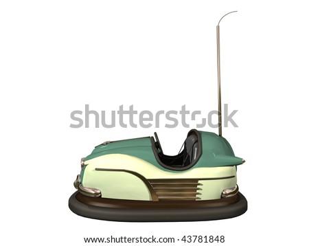 bumper car - stock photo