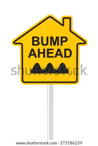 Bumpy real estate market ahead, 3d render - stock photo