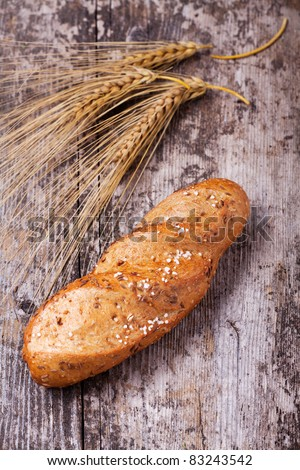 bun and barley - stock photo