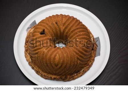 Bun Cake Pecan, Vanilla and Cinnamon.  - stock photo