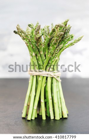 Bunch of asparagus - stock photo