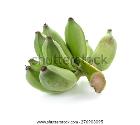 Bunch of banana isolated on white background
