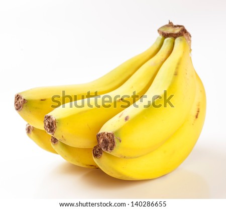 Bunch of bananas in the Canary Islands - stock photo