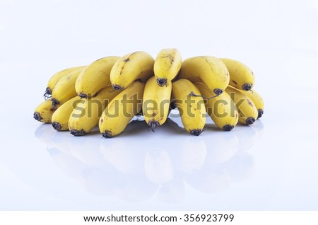 Bunch of bananas isolate on white background - stock photo