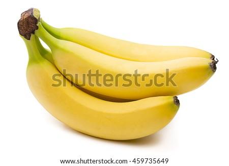 Bunch of Bananas Isolated  - stock photo