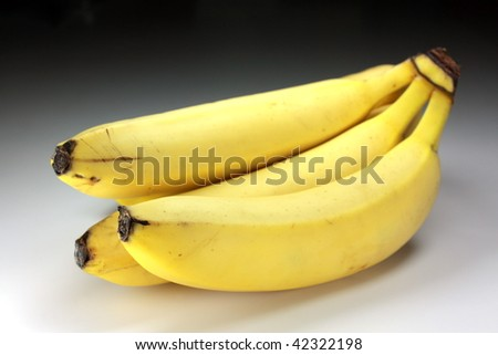 bunch of bananas with clipping path