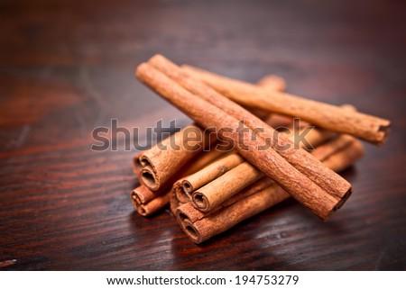 Bunch of cinnamon sticks  - stock photo