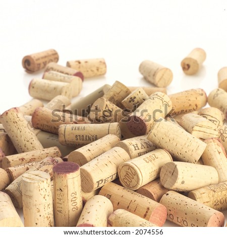 Bunch of corks - stock photo