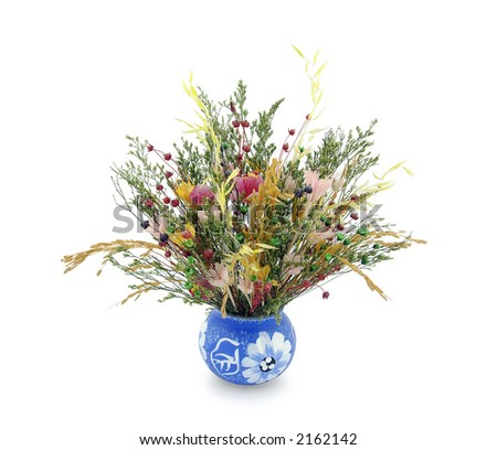 Bunch of flowers. Clipping path included. - stock photo