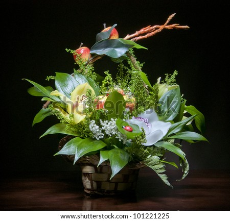 bunch of flowers for design and decorate - stock photo