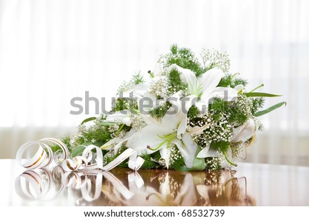 Bunch of flowers for the bride - stock photo
