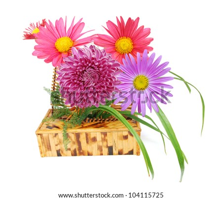 Bunch of fresh spa flowers - stock photo