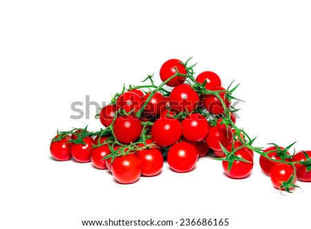 Bunch of fresh tomatoes Isolated on white background  - stock photo