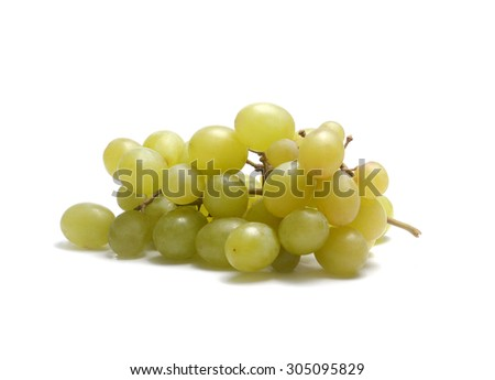 bunch of freshly ripe white grapes