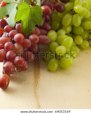 Bunch of grape on a table - stock photo