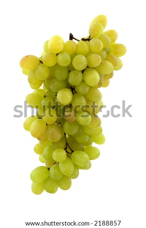 Bunch of grapes. Clipping path included. - stock photo