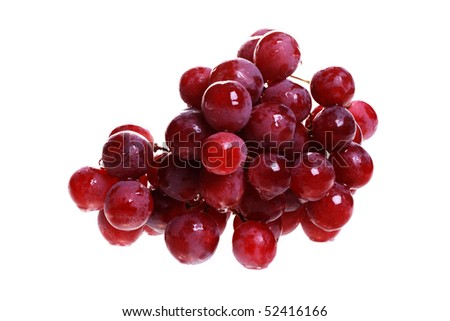 Bunch of grapes. Isolated object on a white background - stock photo