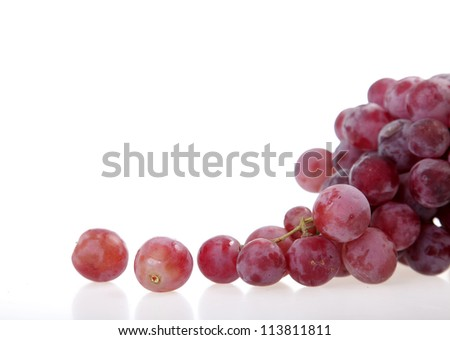bunch of grapes over white background - stock photo