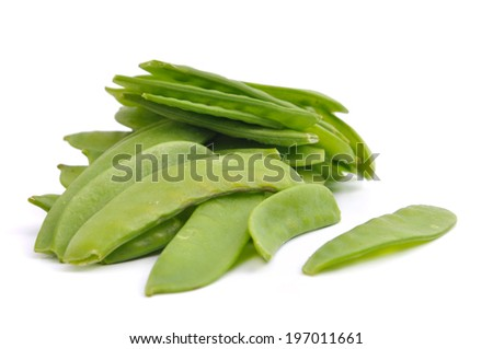 "bunch of green beans ""gourmet"" isolated on white background"