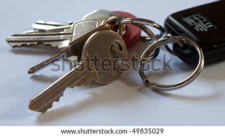 Bunch of keys - stock photo