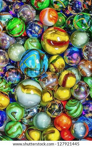Bunch of Marbles - stock photo