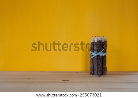 bunch of pencils stylized tree branch. - stock photo