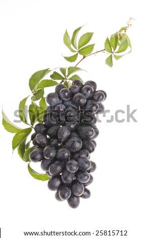 Bunch of raw grape isolated over white background