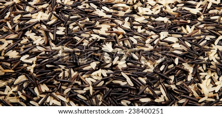Bunch of rice mix integral texture