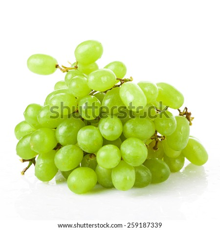 bunch of ripe and juicy green grapes - stock photo