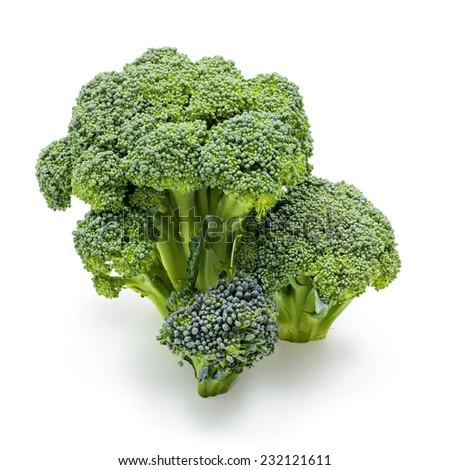 Bunch of ripe fresh broccoli cabbage crop - stock photo