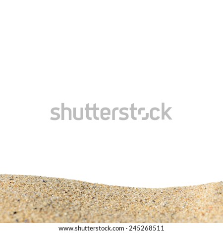 Bunch of sand isolated on a white background - stock photo