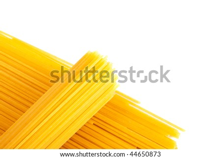 bunch of spaghetti isolated on white - stock photo