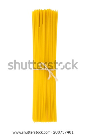 Bunch of spaghetti isolated on white background - stock photo
