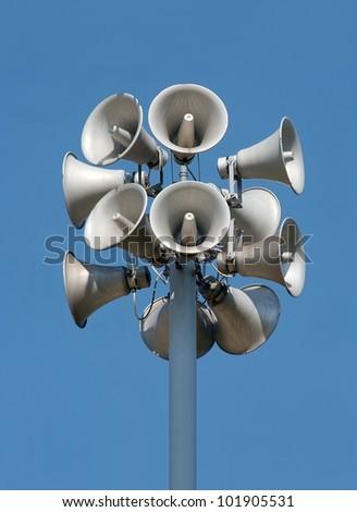 Bunch of speakers - stock photo