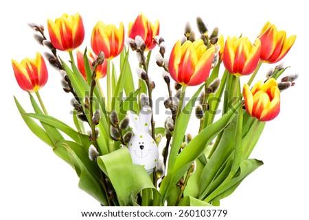 bunch of tulip flowers - stock photo