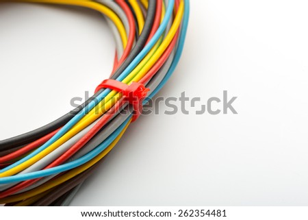 Bunch of wires - stock photo