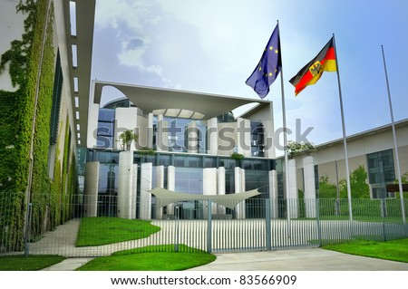 Bundeskanzleramt, Berlin, governmental district - stock photo