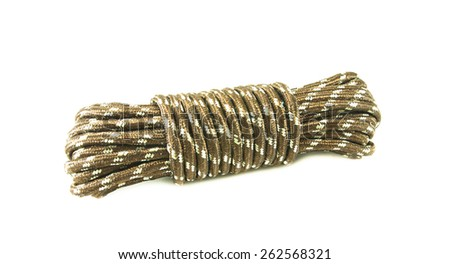 bundle cable rope on white background - stock photo