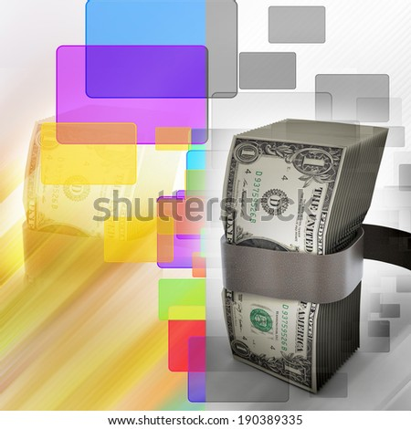 Bundle of dollar notes