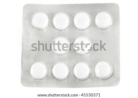 bundle of the pills under the light background