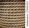 bundle of thick rope - stock photo
