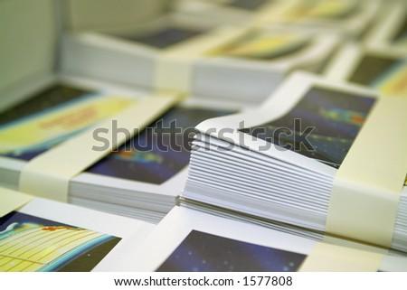 Bundled Brochures - stock photo