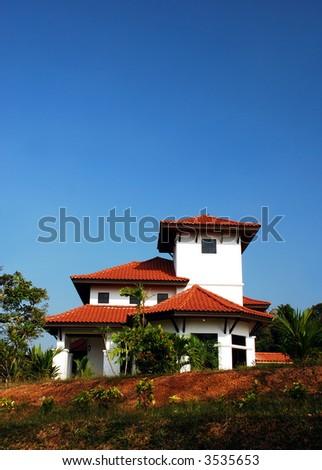 Bungalow house - stock photo