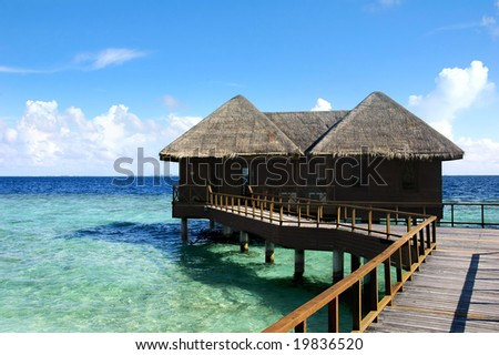 bungalow on an maldivian island