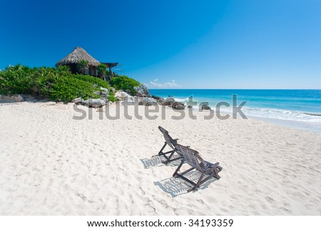 bungalow over water in tulum mexico beach