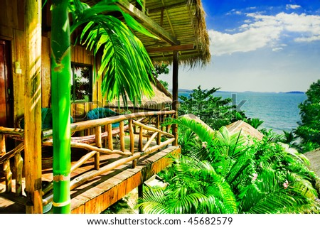 Bungalow overlooking ocean
