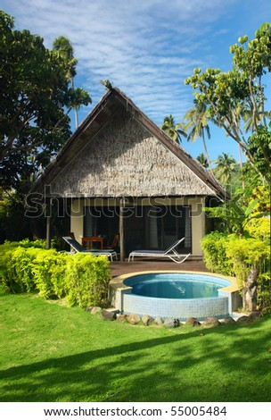 Bungalow with jacuzzi for newly married in tropical resort